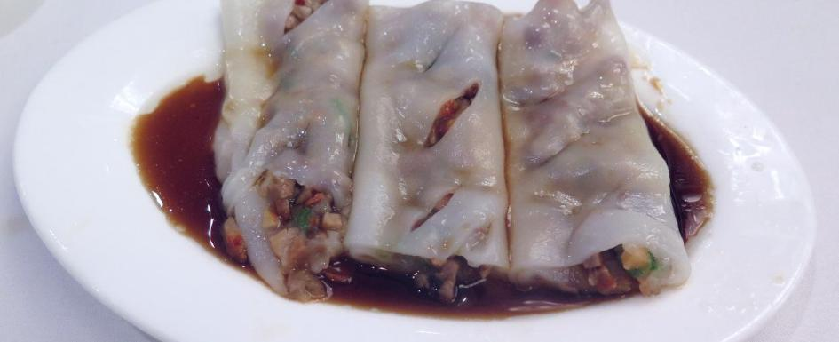Rice Noodle Roll (腸粉) at May Garden in Bedford, Nova Scotia