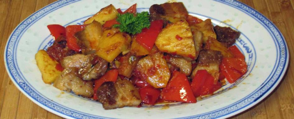 Fish-fragrant Pork Belly with Pineapple