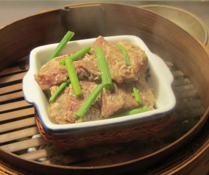 Finishing Pepper Steamed Beef Rib