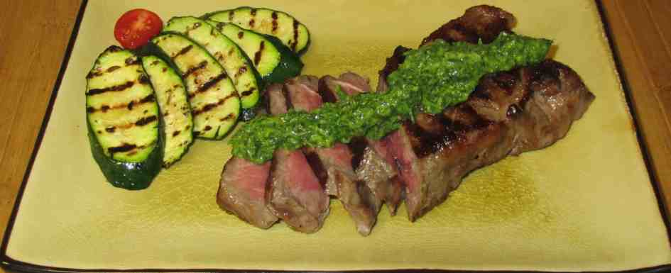 Steak with Lemon-Cumin Pesto