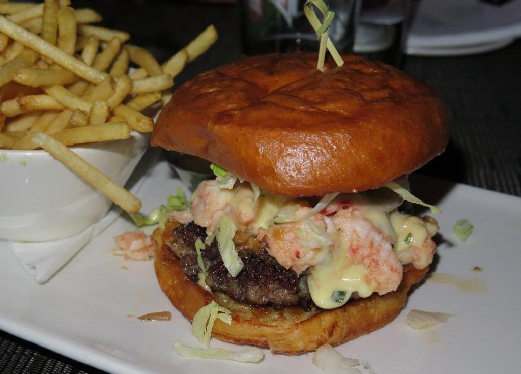 Surf and Turf Burger at Luxe