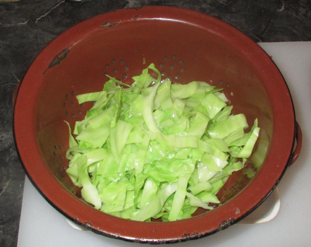 Blanched Cabbage