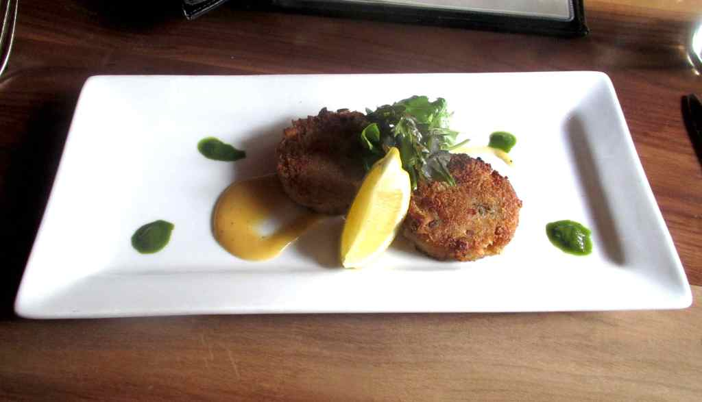 Crab Cakes at The Press Gang Restaurant in Halifax
