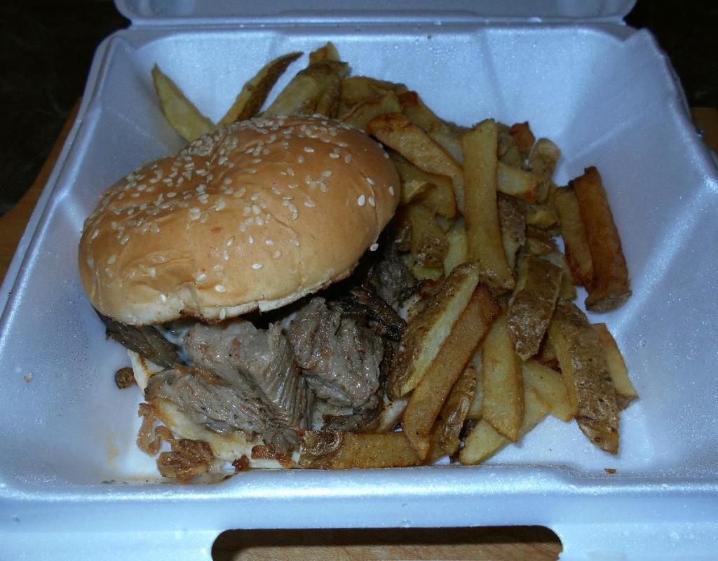 A Takeout Texas Beef-Brisket Sandwich
