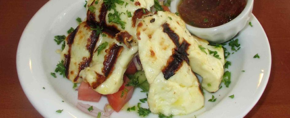 Grilled Haloumi at the Efendy Restaurant in Halifax