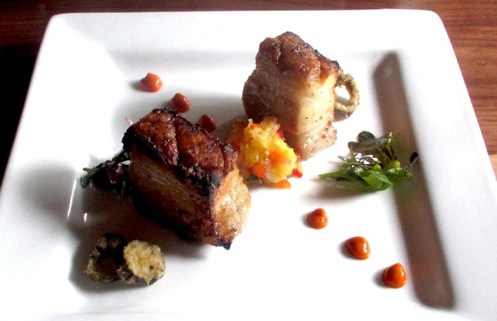 Pork Belly Appetizer at the Press Gang Restaurant in Halifax