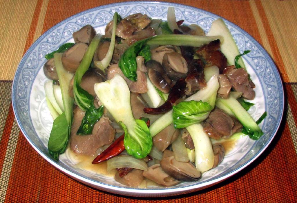Pork with Straw Mushroom