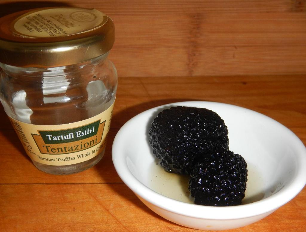 A jar of Preserved Black Truffles