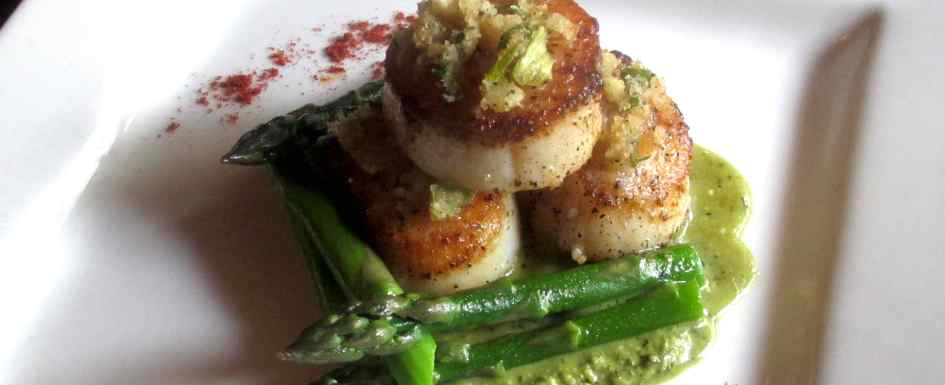 Scallops Grilled at The Press Gang Restaurant in Halifax