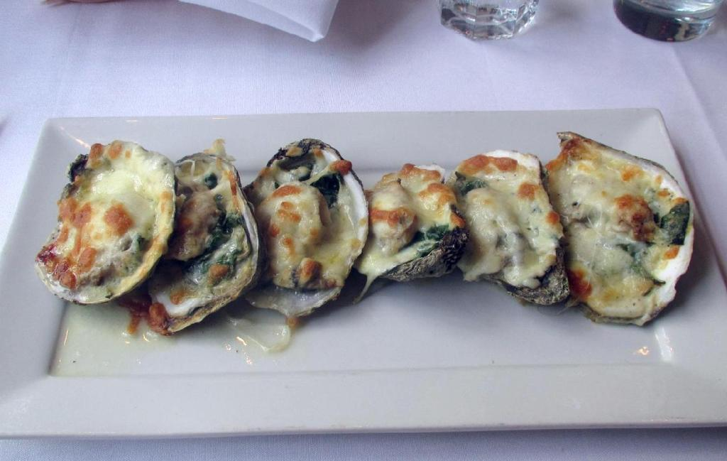 The Oysters Rockefeller at the Oyster Shack in Montreal