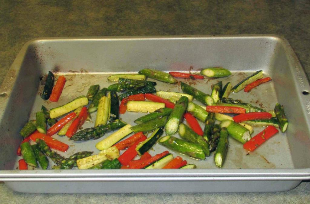 Roasted Asparagus, Zucchini and Bell Pepper