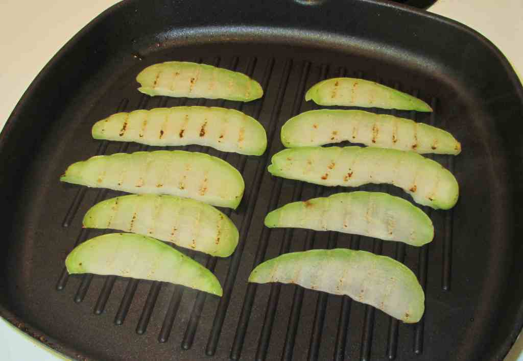 Grilling Chayote slices