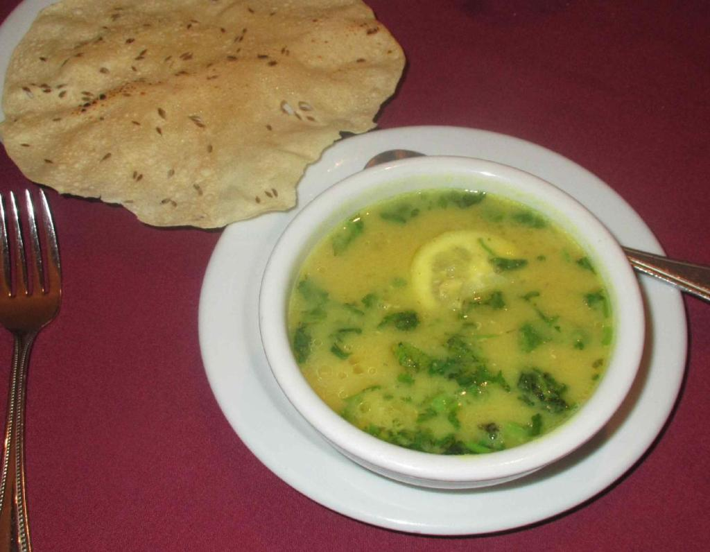 Dal Soup at the Mukut Restaurant in Ottawa