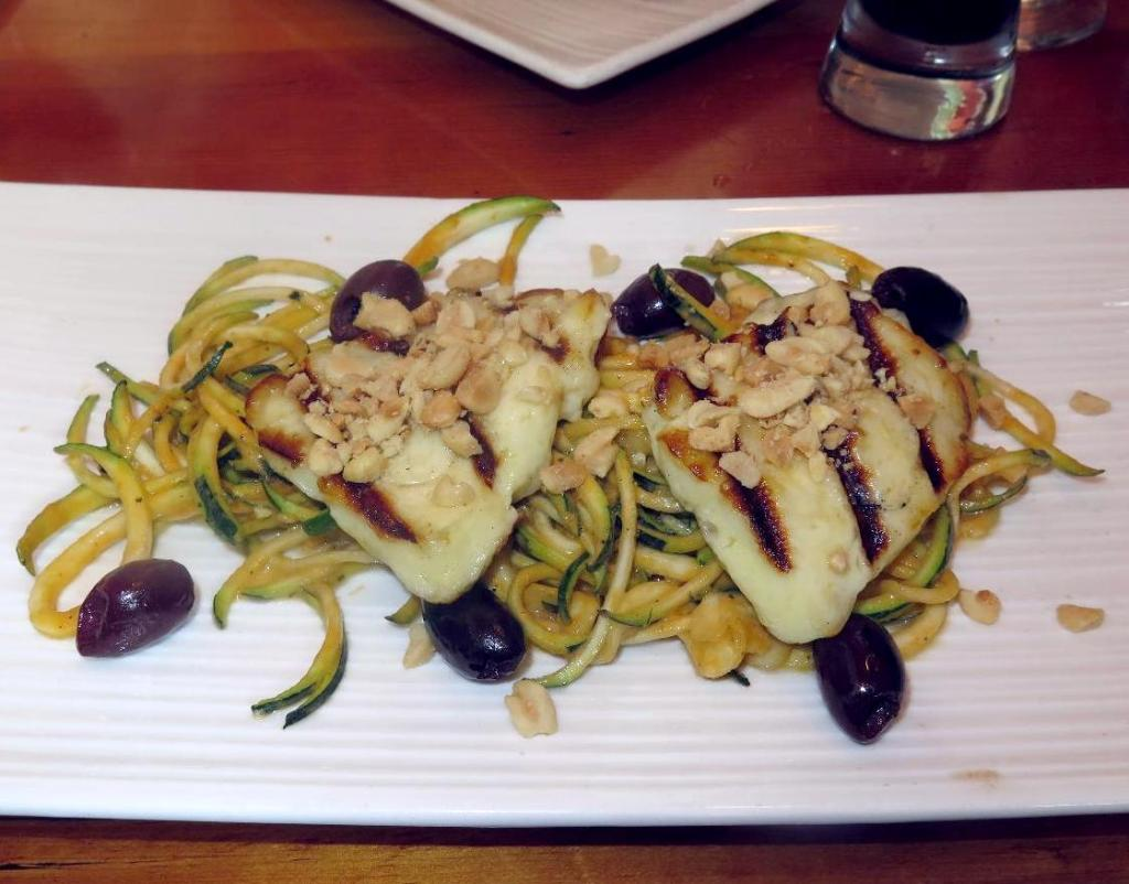Grilled Halloumi at Play, Food, & Wine (Version II)
