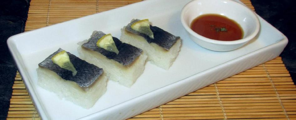 Pickled Herring Sushi using 'Rollmops'