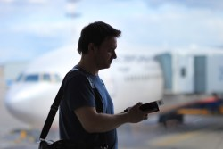 Man with Boarding Pass