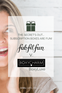 Blog Post Battle of the Subscription Boxes FabFitFun versus Boxycharm BoxyLuxe