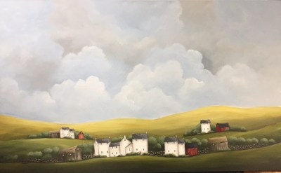 Stone Walled Farm 36 x 60 Acrylic on Canvas