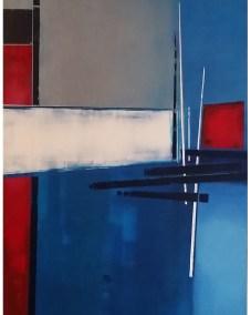 Andrew Stelmack Lighthouse Mist 48 x 72 Acrylic on Canvas