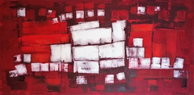 Andrew Stelmack Oh Canada! Fire and Ice 42x 84 Acrylic on Canvas
