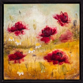 Tanya Kirouac From A Memory 12 x 12 Encaustic on Wood Panel (Framed)