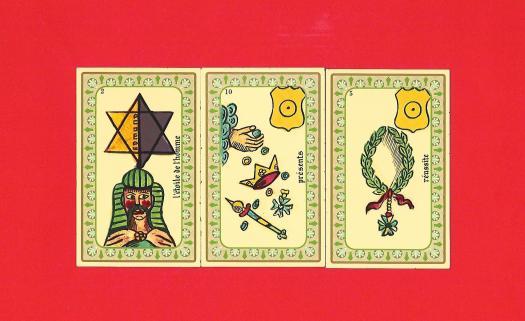 3 cartes de l'oracle Belline