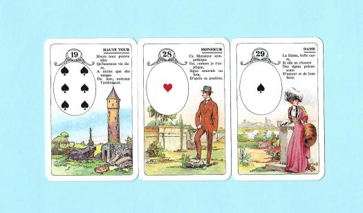 3 cartes de l'oracle du petit Lenormand
