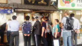Noodles for breakfast before visiting the fish market