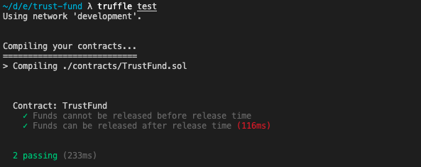 passing truffle tests - TRUFFLE SUITE