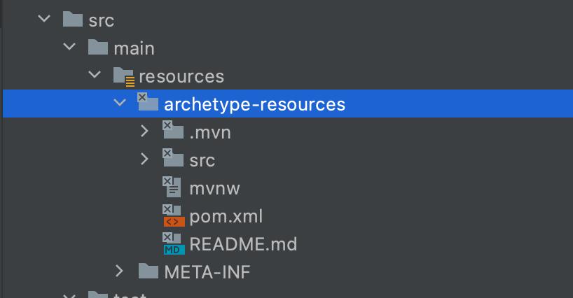 maven archetype directory structure - MAVEN ARCHETYPE