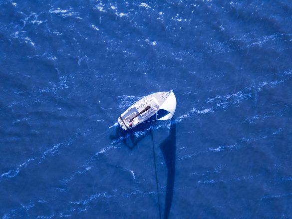 Sailboat on a blue sea