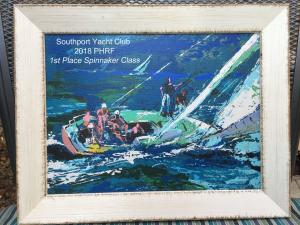 PHRF race series award, designed by Club member Ricky Evans