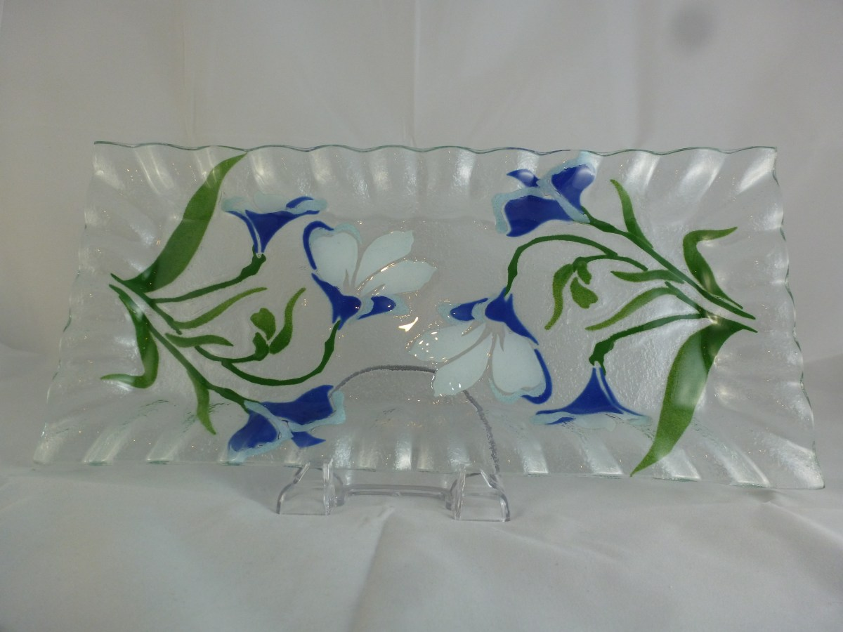 Side View Star Flower Large Cheese Tray