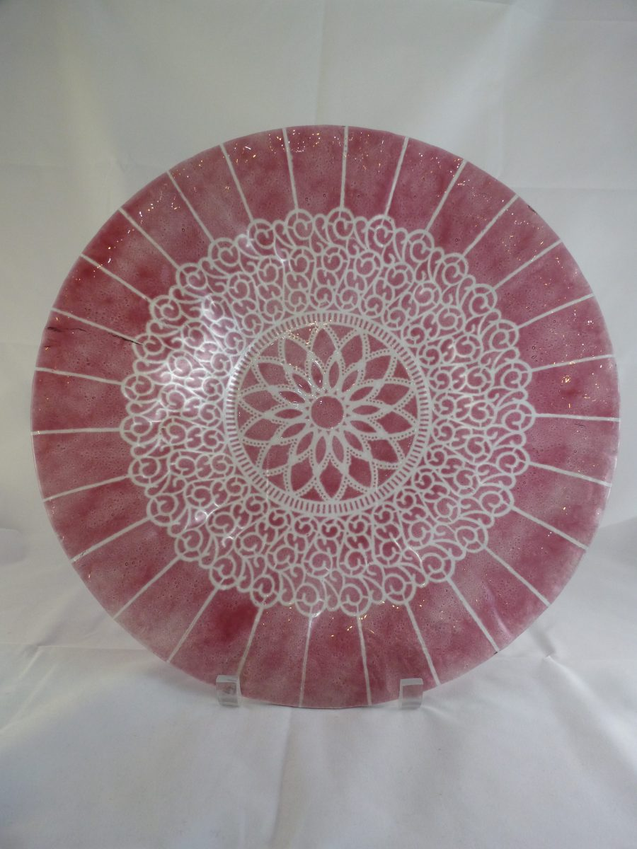 Cranberry Embassy Large Bowl