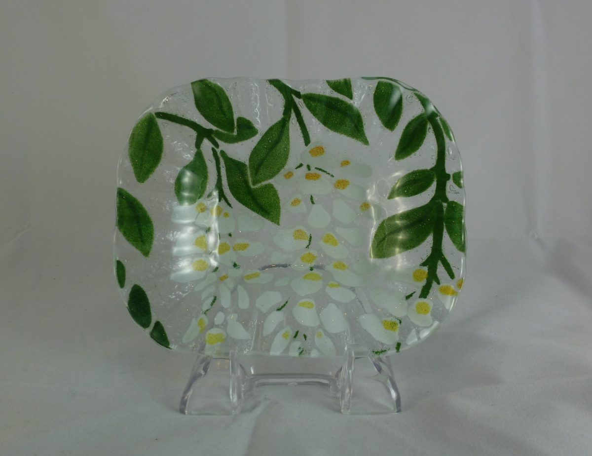 White Wisteria Soap Dish