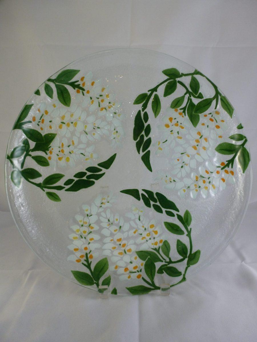 White Wisteria Platter