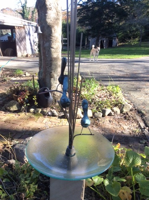 Custom made bird bath for one of our customers.