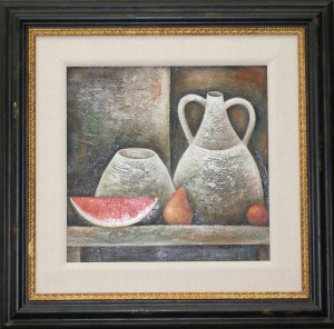 artist koulikov vase and watermellon