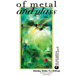 of metal and glass