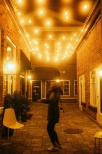 Burlington Village Square - Lights at Night