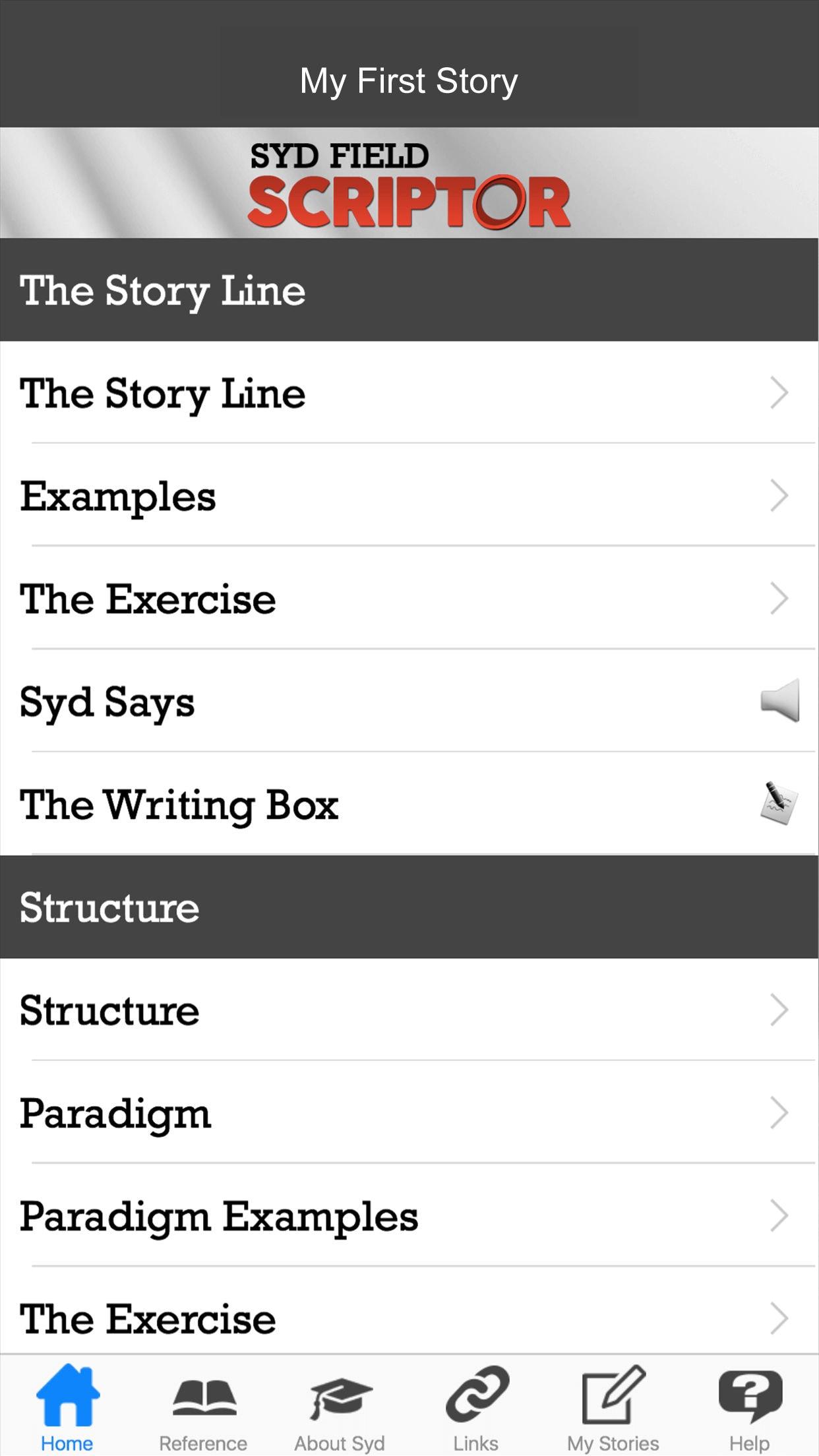 Screenplay Treatment App