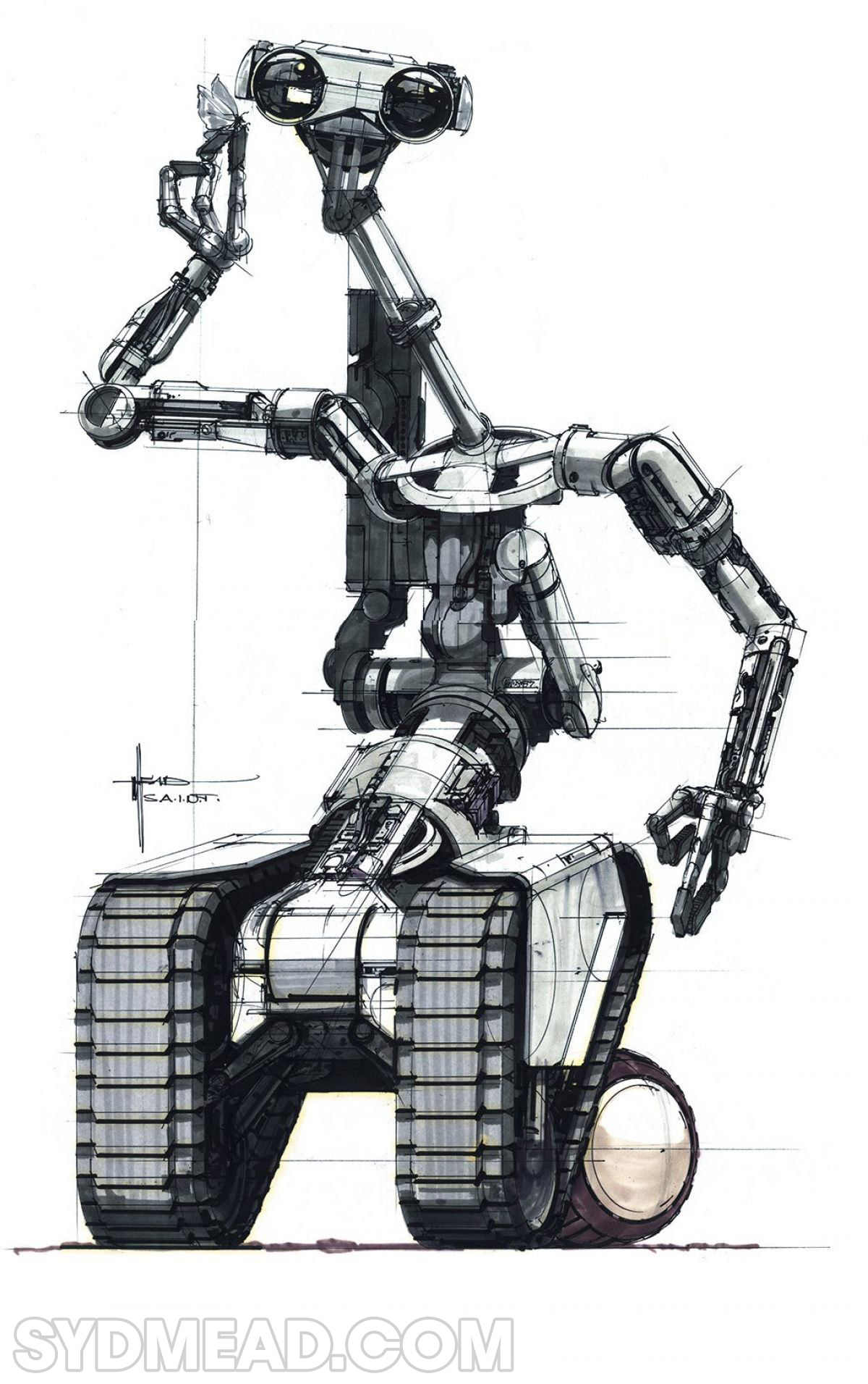 Syd Mead Short Circuit Robot