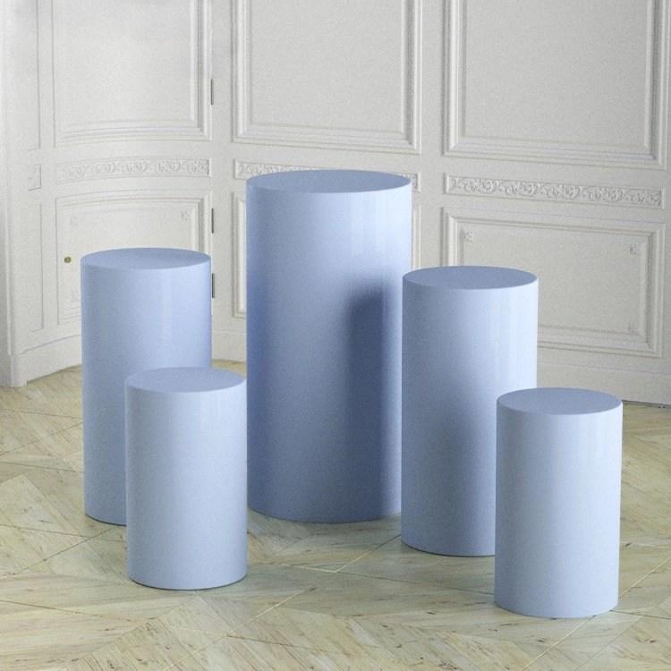 blue Plinth (Set of 5)