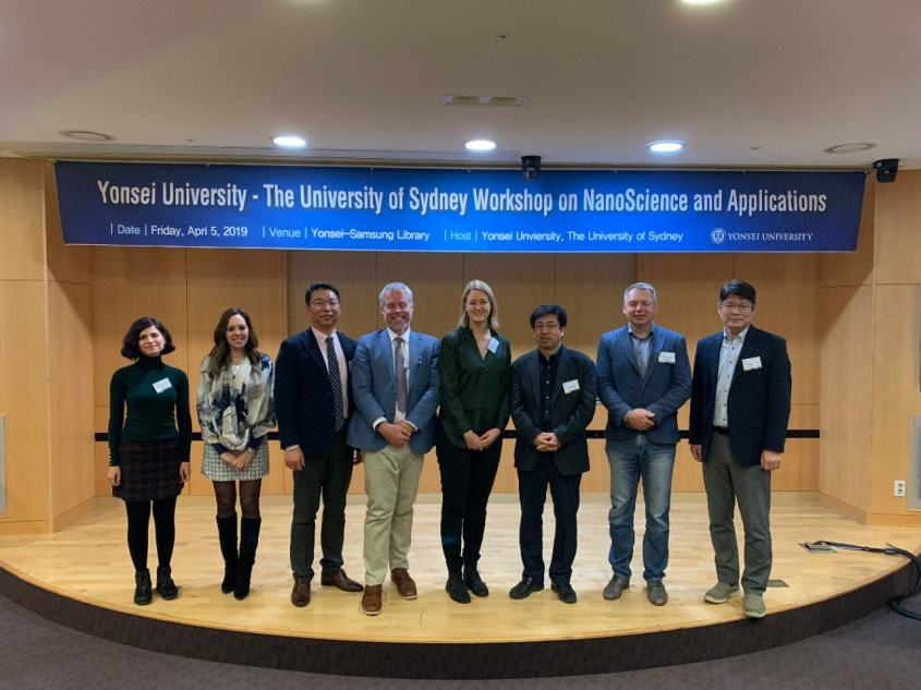 Nanoscience and application workshop with researchers from the University of Sydney and Yonsei University