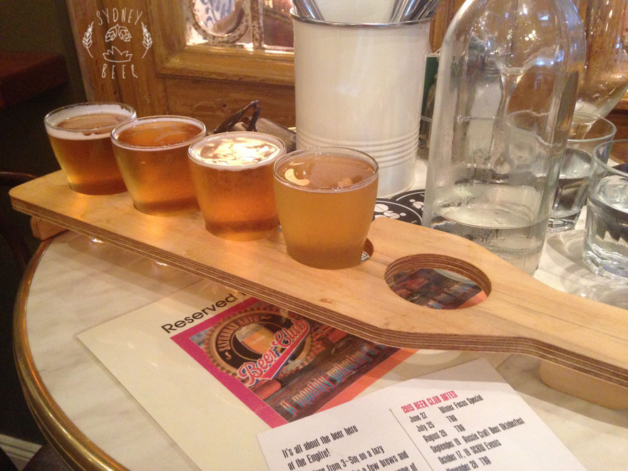 Empire Hotel Tasting Paddle