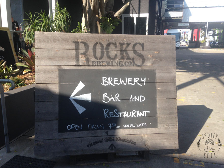 Rocks Brewing Co sign