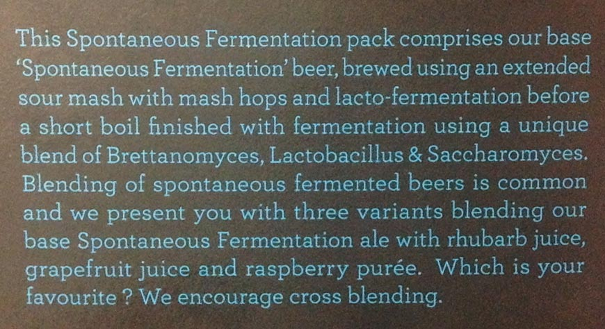 Doctor's Orders and Bridge Road Brewers Spontaneously Fermented box description