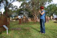 Exploring St Peters Cemetery, Cooks River (photo: Mark Dunn)