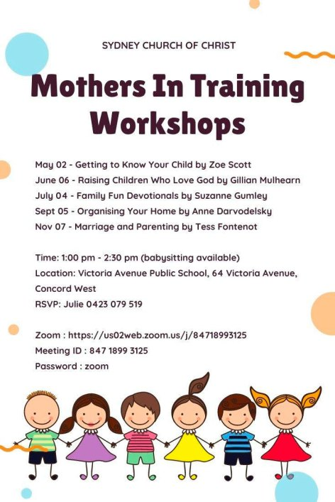 mothers in training workshop