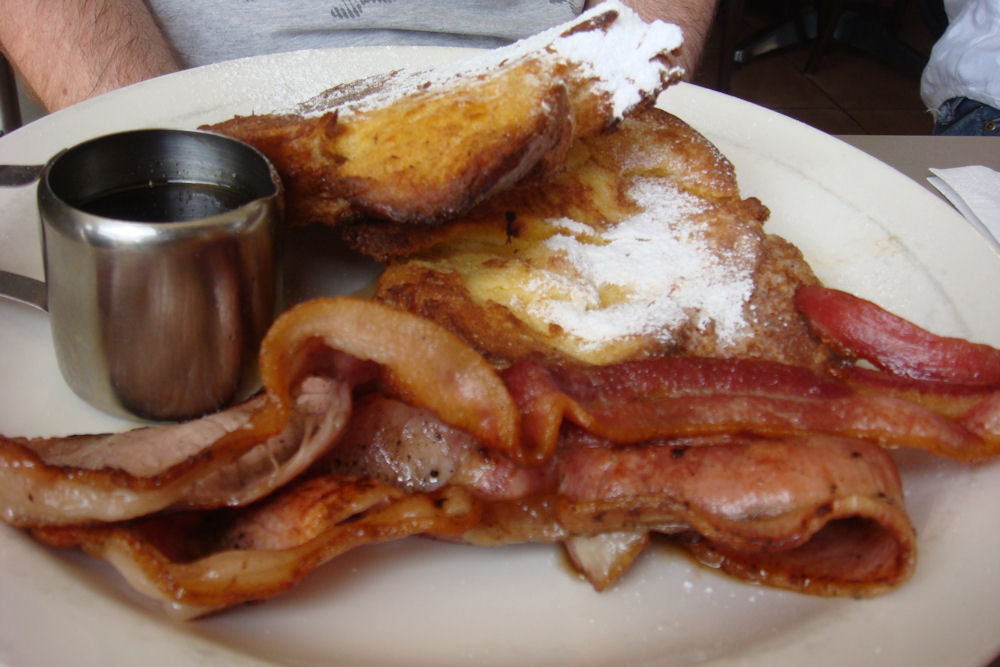 French Toast with Bacon & Maple Syrup